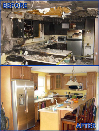 Inside Home Fire Damage Clean Up