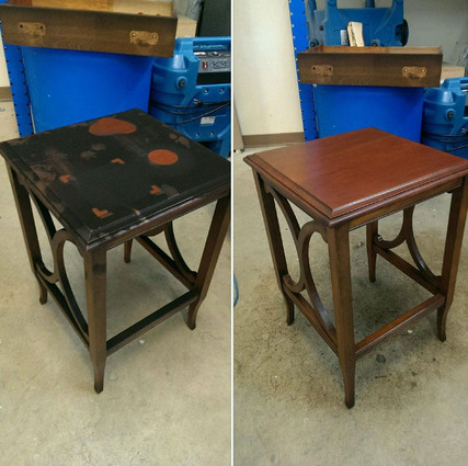 Fire Damage Furniture Restoration Before And After