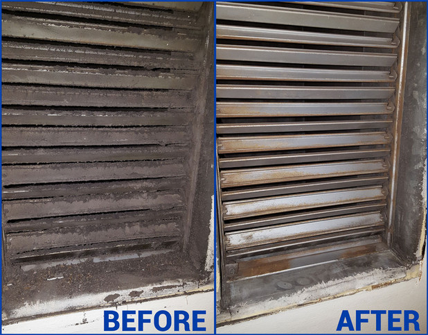 commercial vent cleaning before and after