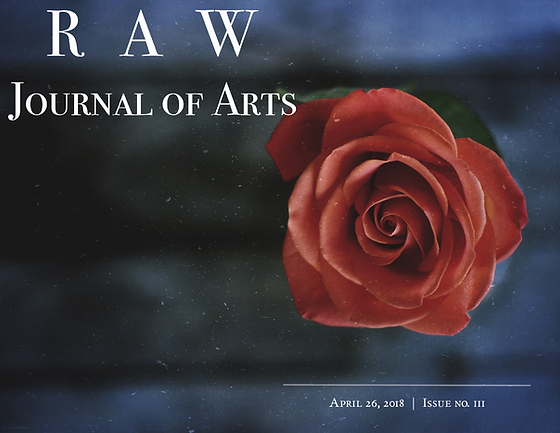 RAW Journal of Arts issue no. 3 Cover