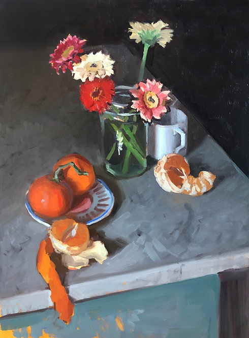 Clementines and flowers