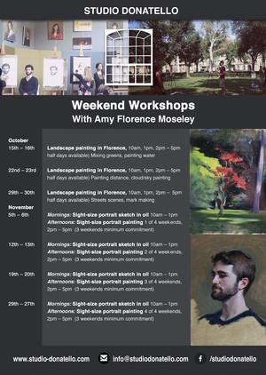 Weekend Workshops - October, November