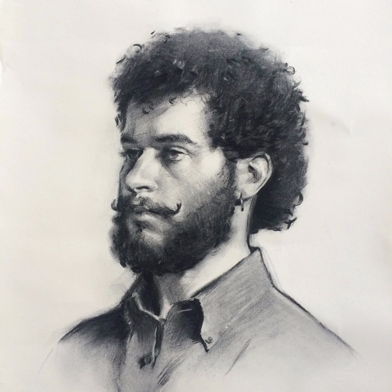 Sight-size Charcoal Drawing