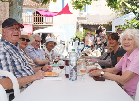 Picnic op een wijndomein - mei 2018