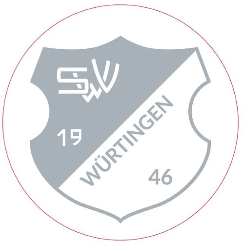 Aufkleber - Wappen - silber-transparent - rund 80mm