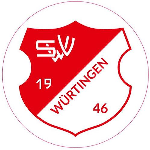 Aufkleber - Wappen - rot-transparent - rund 80mm