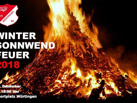 Wintersonnwendfeuer am Samstag den 29.12.2018