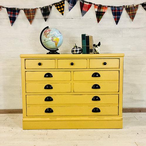 Mustard Yellow 3 Drawer Dresser
