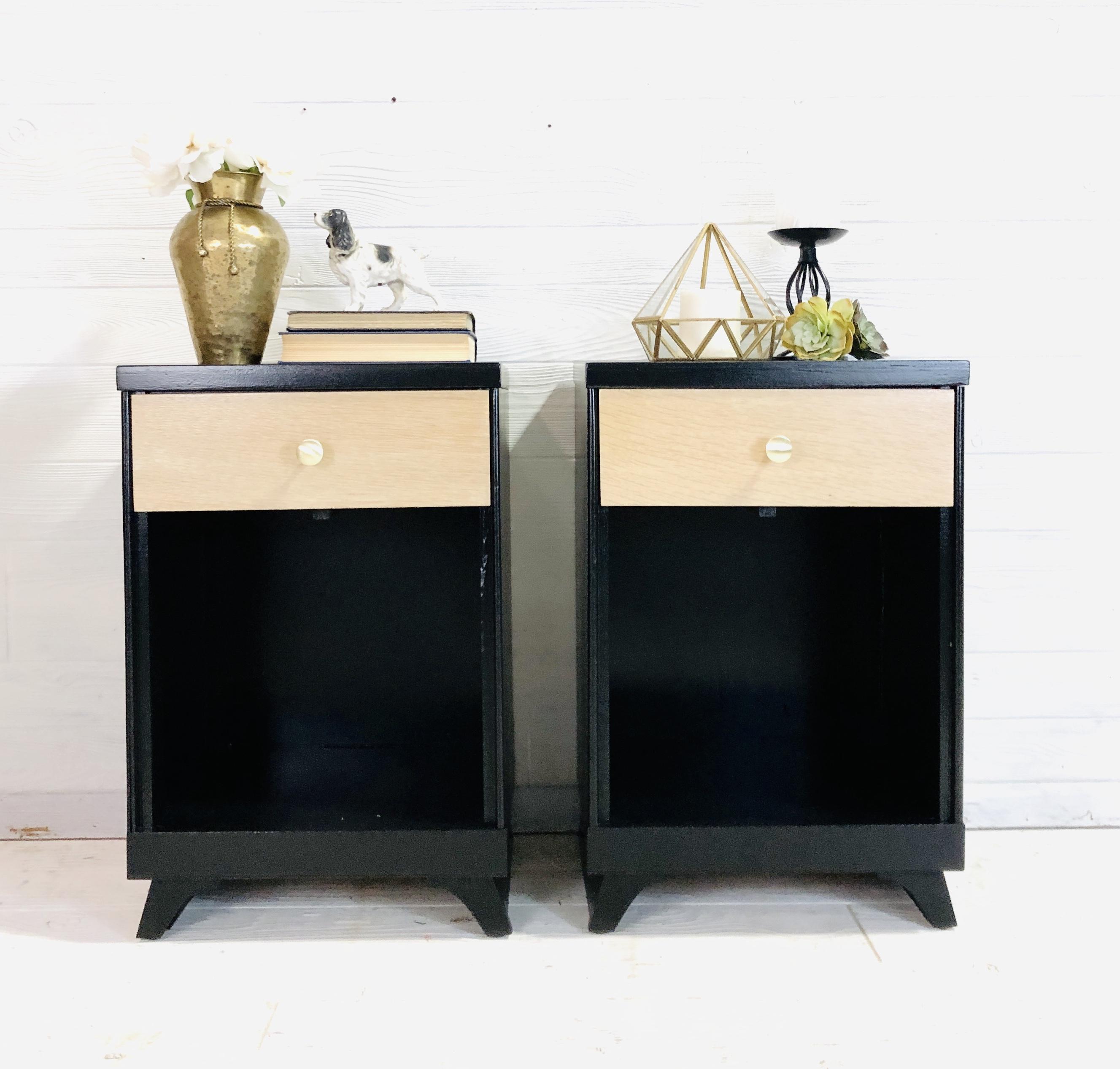 Lamp Black and Raw Wood White Wash