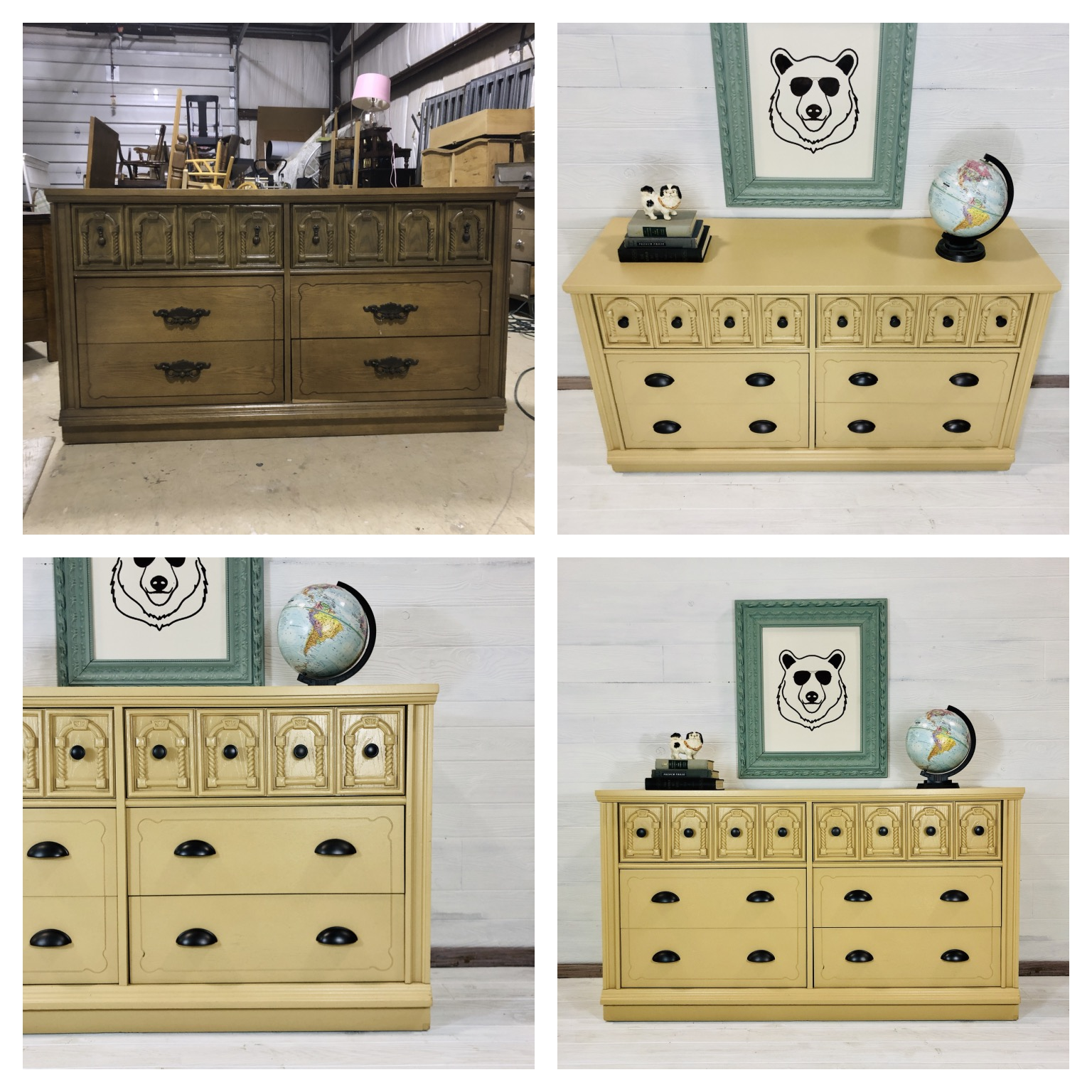 Mustard Yellow 6 Drawer