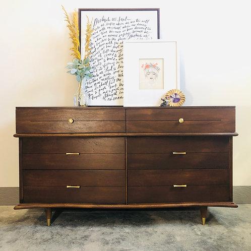 Jake - 6 Drawer Wood MCM Dresser