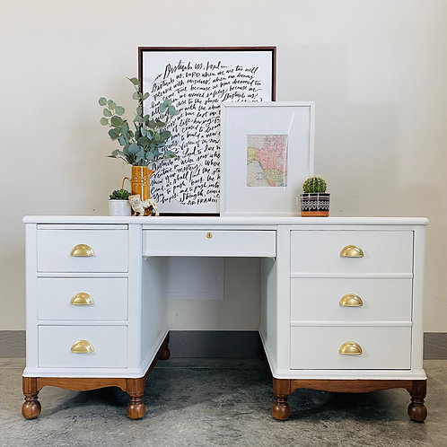 Junie - White and Wood Desk