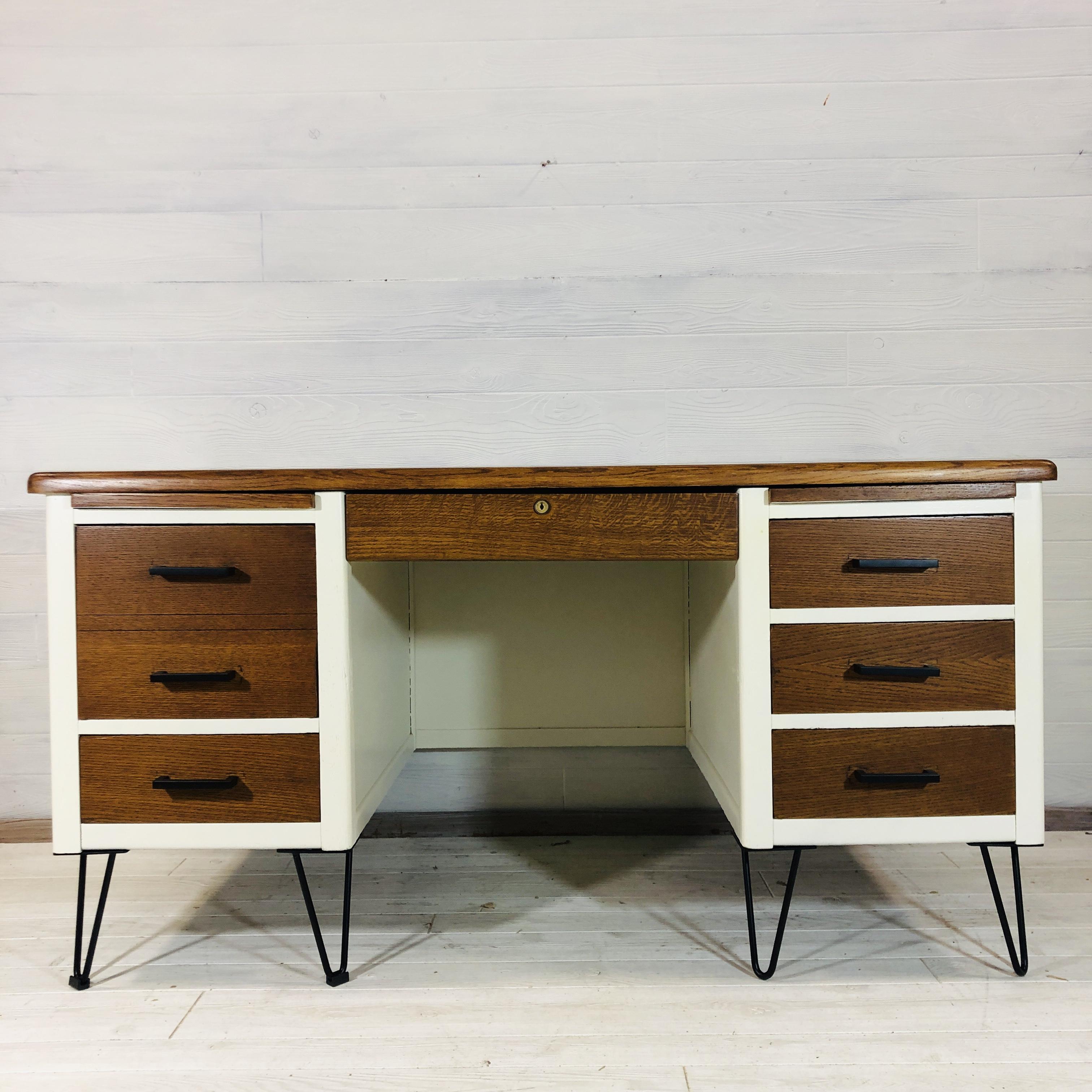 Wood and Alabaster Desk