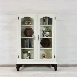 Alabaster and Wood Foot Book Shelf