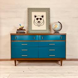 Nutmeg and Blue Nile Dresser