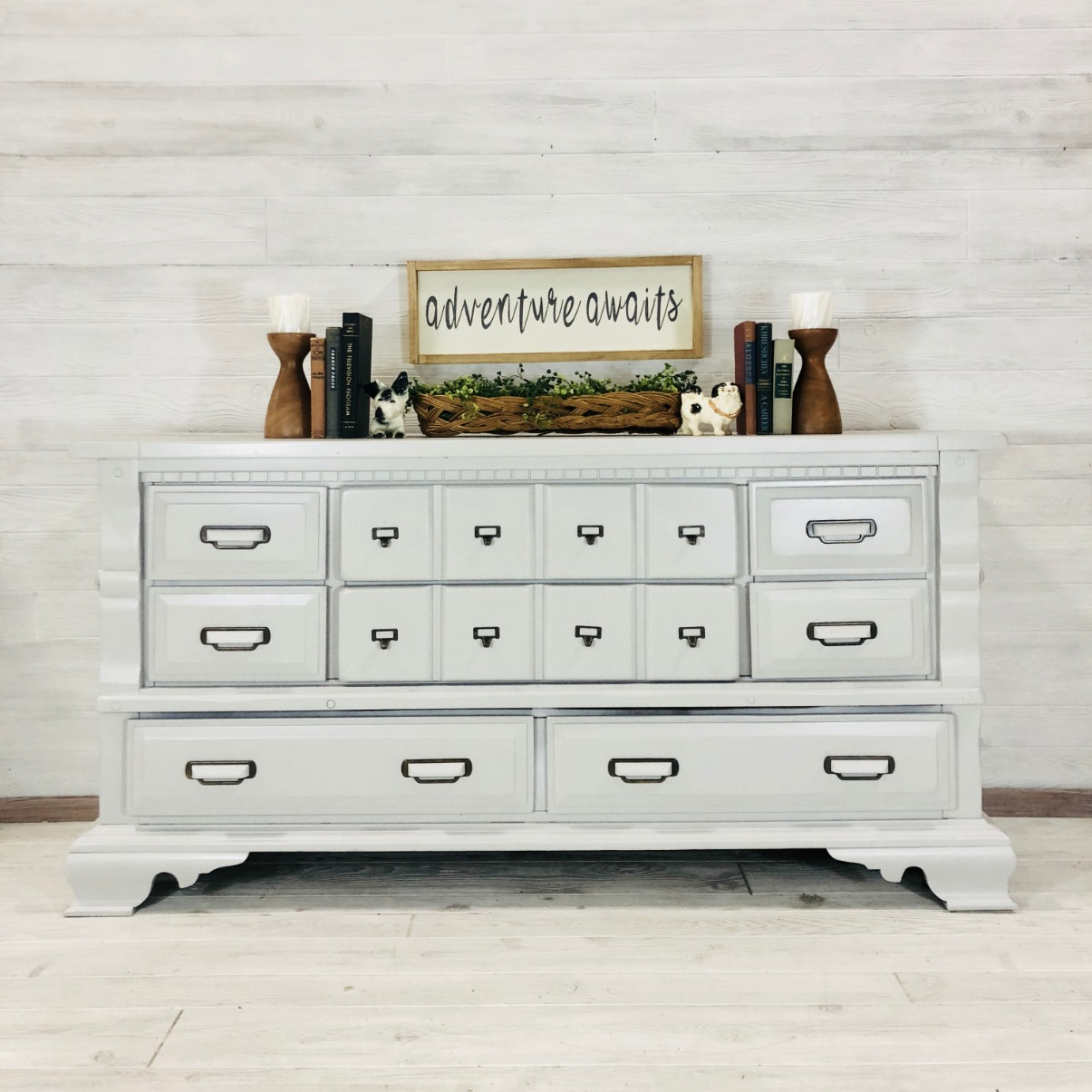 Light Gray Long Low Dresser