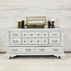 Light Gray Long Low Dresser