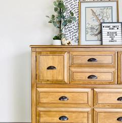 Antique Oak Stained Dresser