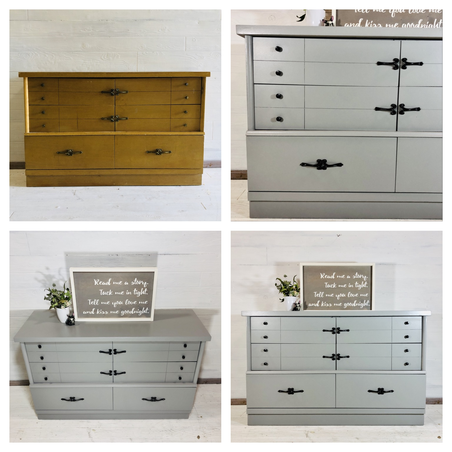 Grey 6 Drawer Dresser