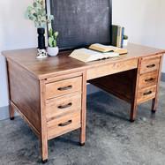 White Washed Wood Desk