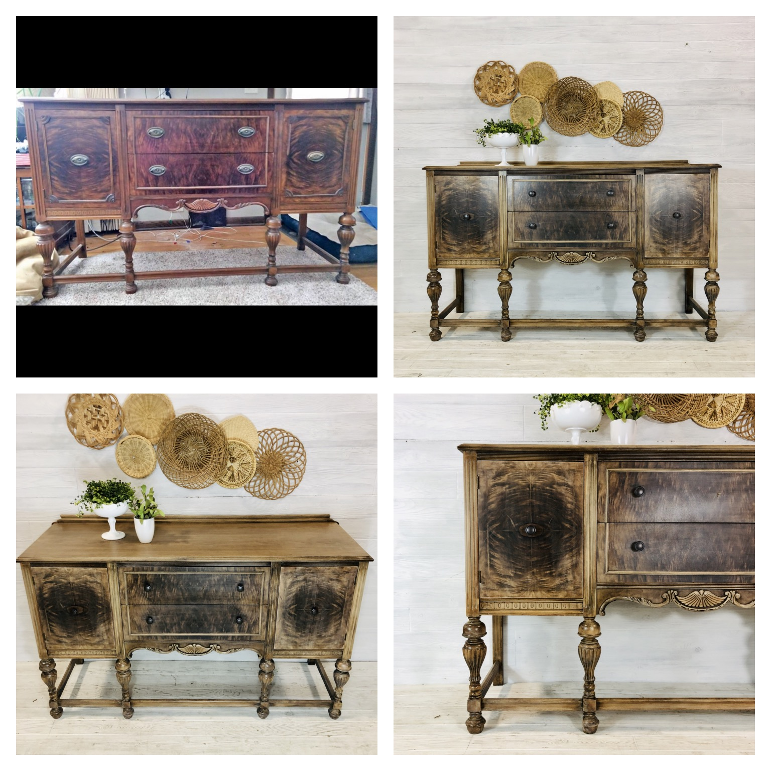 White Washed Wood Buffet