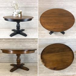 Lamp Black and Nutmeg Table