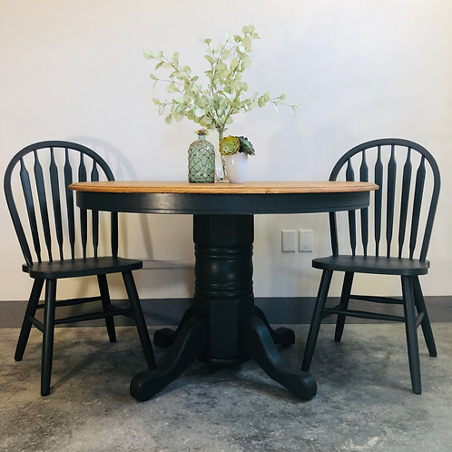 Joy - Iron Ore and Wood Top Table Set