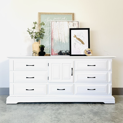 Emir - White and White Washed 9 Drawer