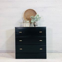 Black Stain Chest of Drawers