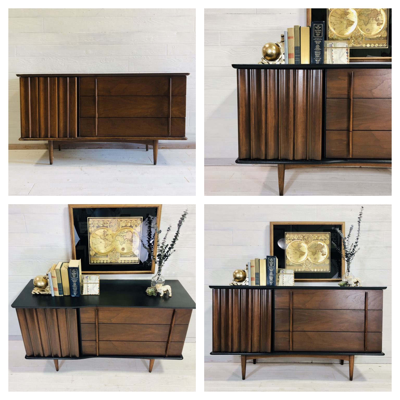 Black and Wood MCM Dresser