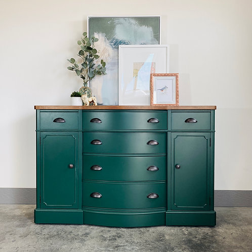 Phillip - Emerald and Wood Top Buffet