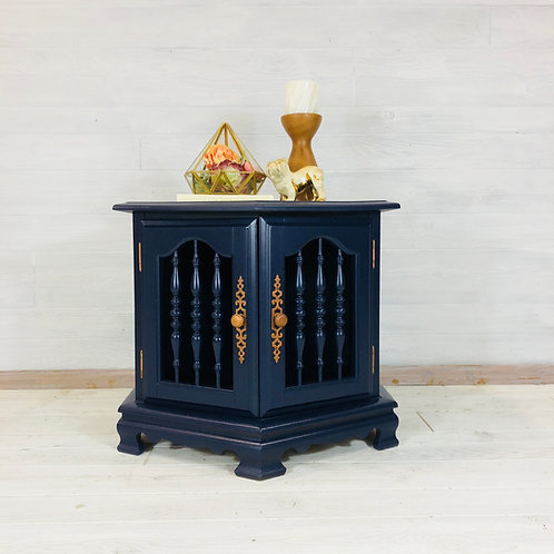 Coastal Blue Accent Table