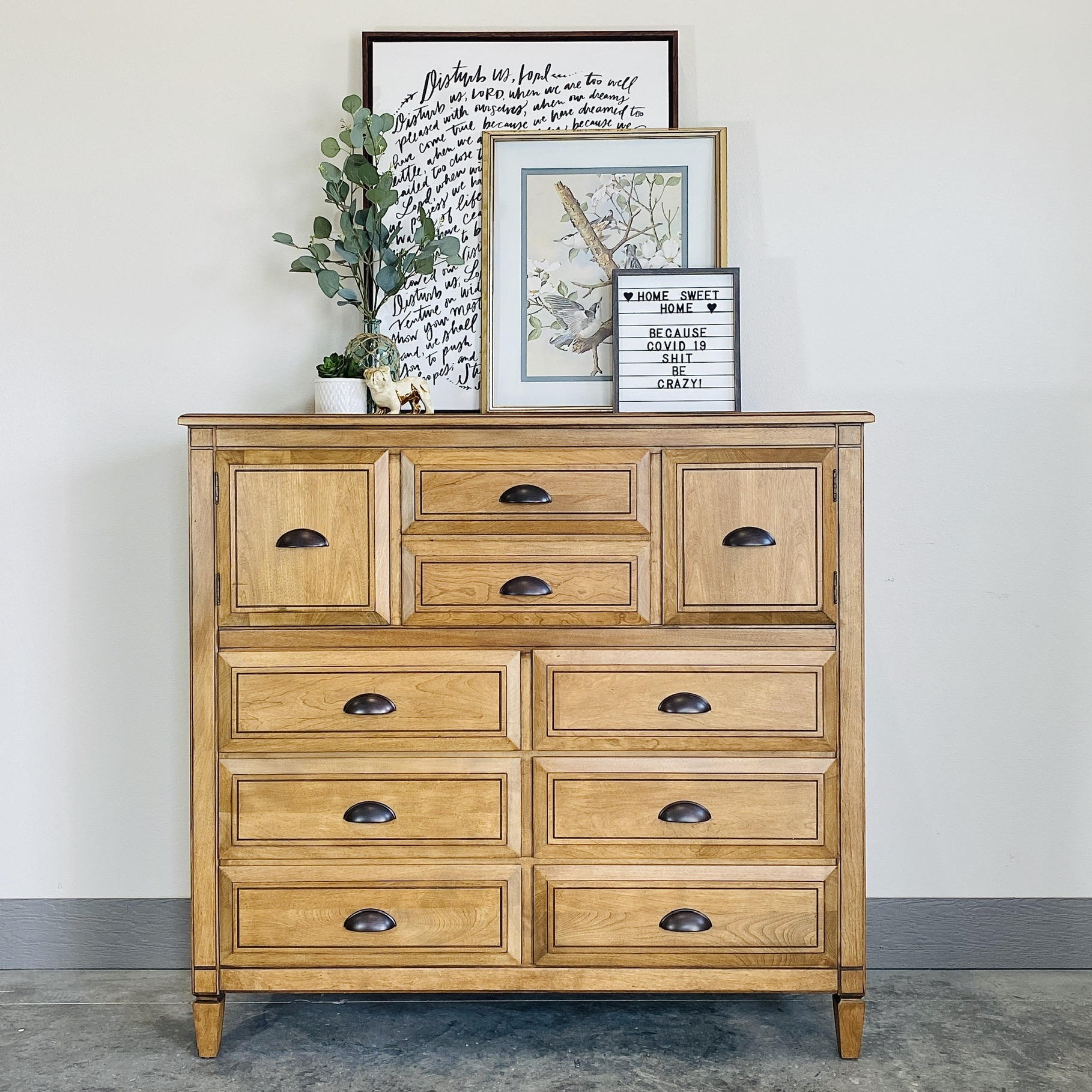 Antique Oak Tallboy