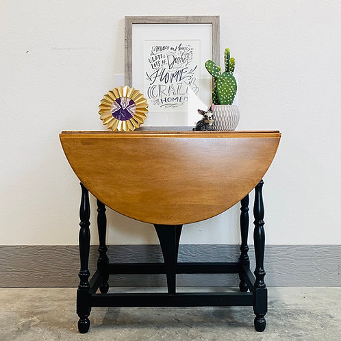 Lenny - Black and Wood Accent Table