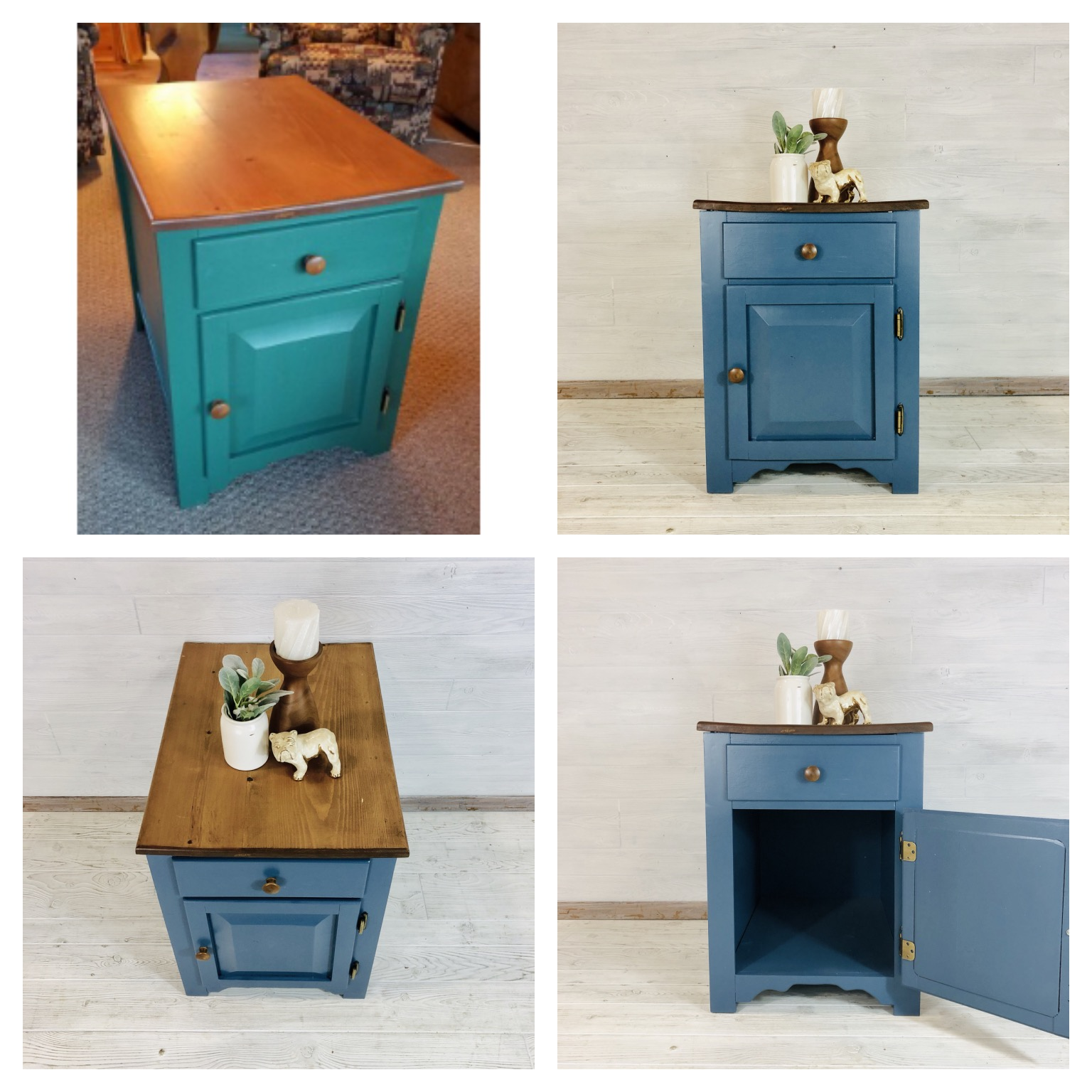 Custom Blue Accent Table
