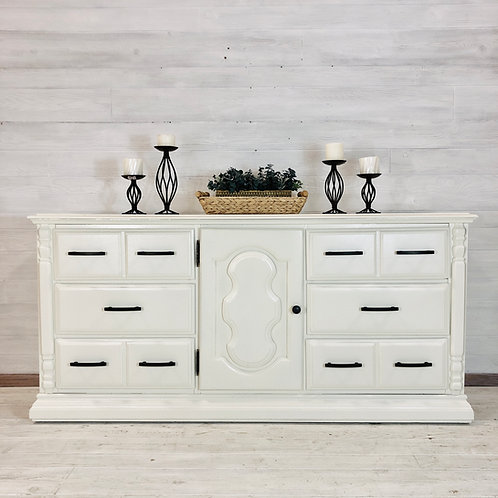 Antique White Long Low Dresser