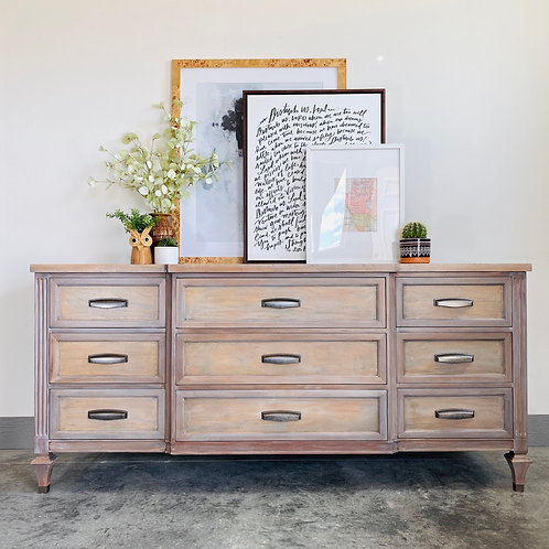 Lulu - White Washed Long Low Dresser