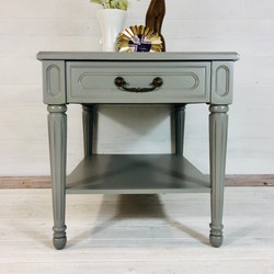 Perfect Grey End Table