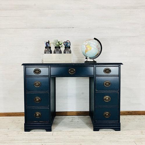 Custom Navy Blue Desk