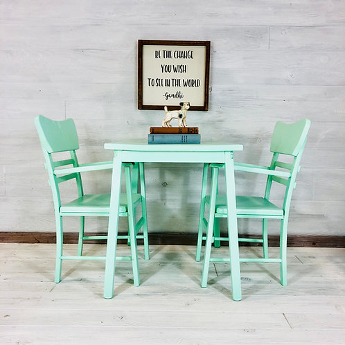Mint Kids Table and Chair Set