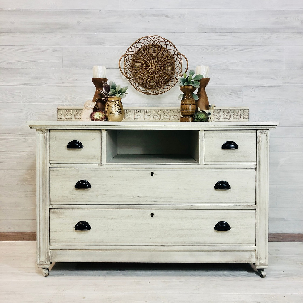 Glazed White Dresser