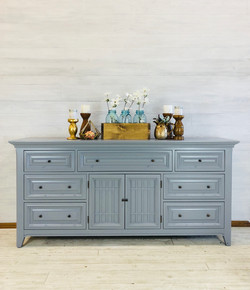 Custom Gray Long Low Dresser