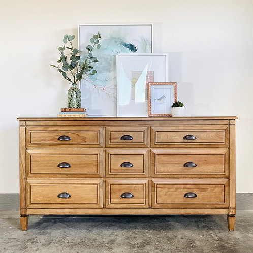Toots - Pecan 9 Drawer Dresser