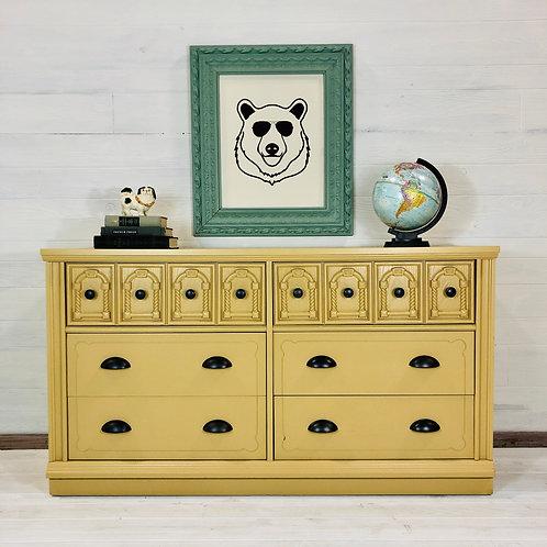 Evan- Mustard Yellow 6 Drawer Dresser