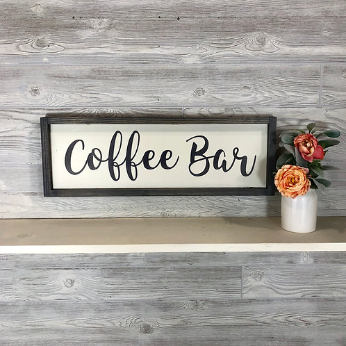 Coffee Bar- Wood Sign