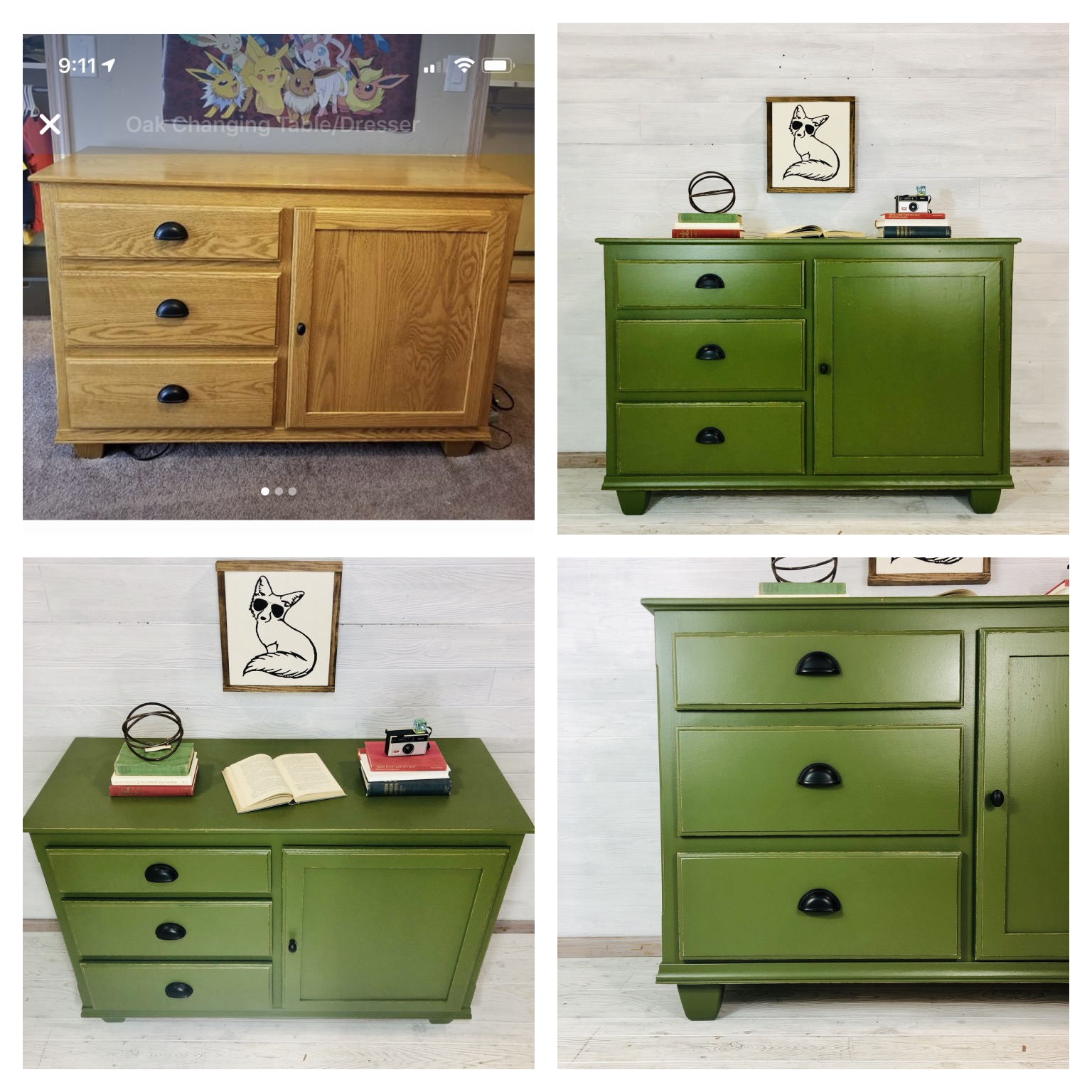 SW Basque Green Dresser