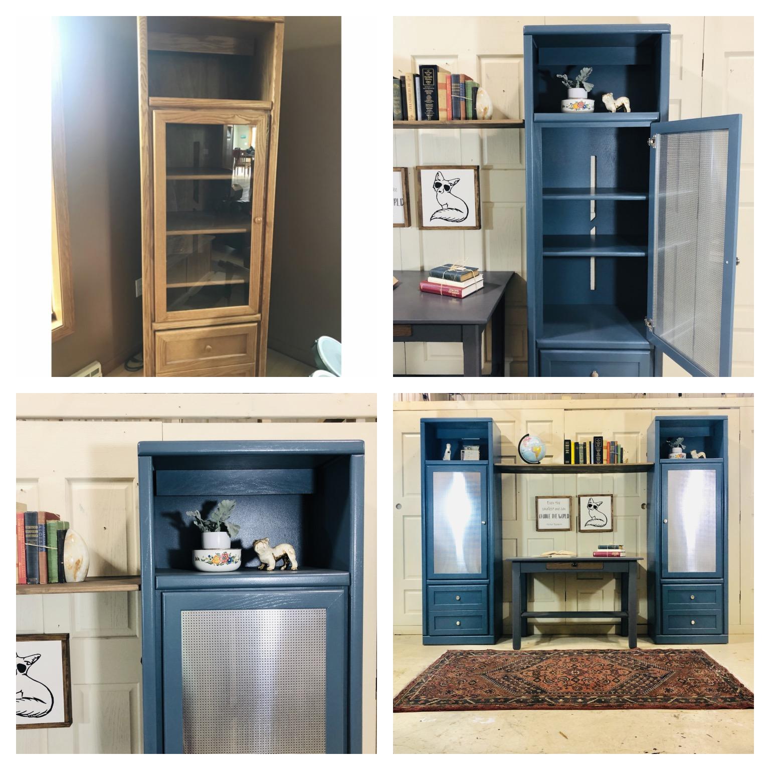 Blue Storage Cabinet