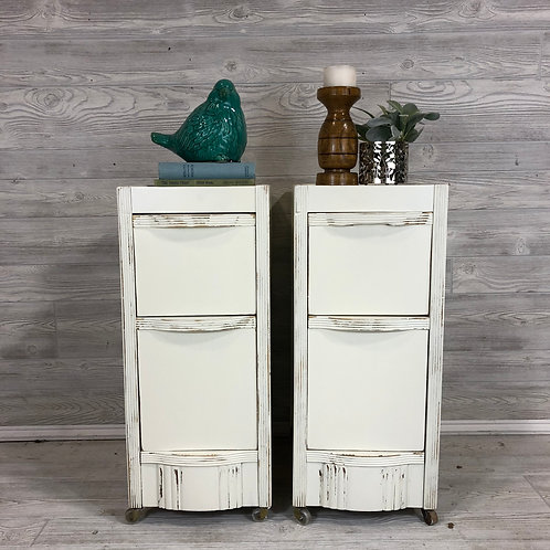 Antique White Nightstands