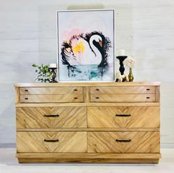 Raw Wood Dresser