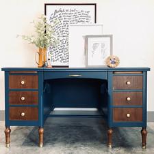 Custom Blue Desk